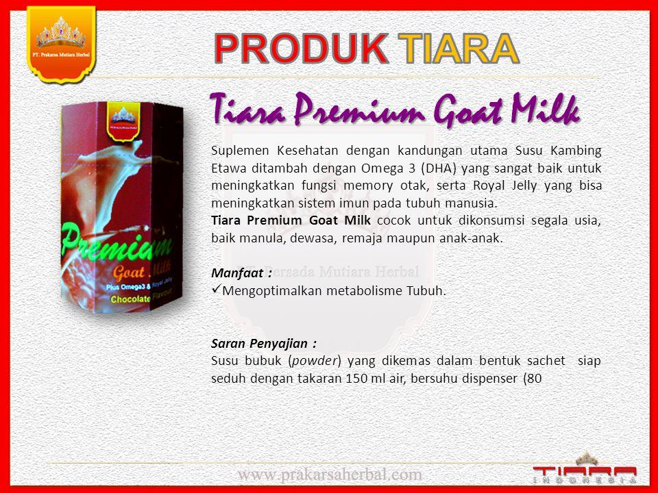 Tiara Great Healthy Herbs Merupakan suplemen kesehatan berupa Juice cair. Kemasan botol isi 350 ml yang terdiri dari komposisi Ekstrak Kulit Manggis s
