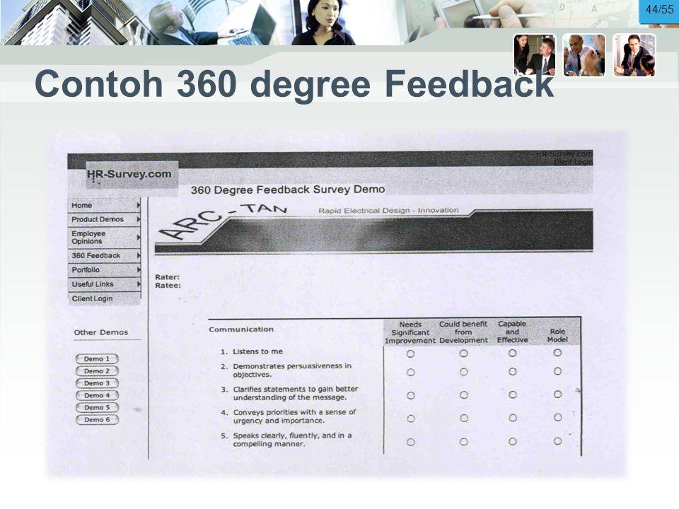 Contoh 360 degree Feedback 44/55