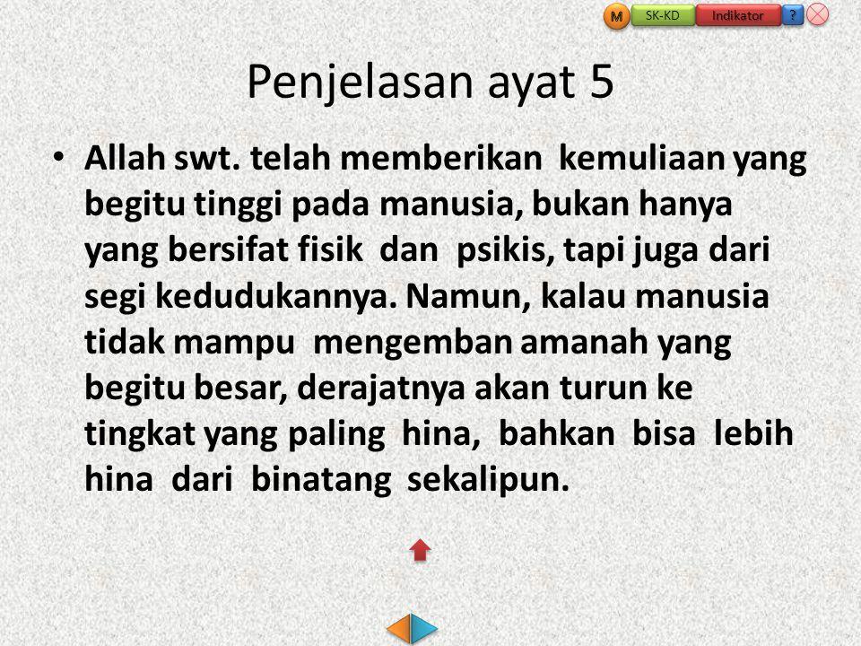 Penjelasan ayat 5 • Allah swt.