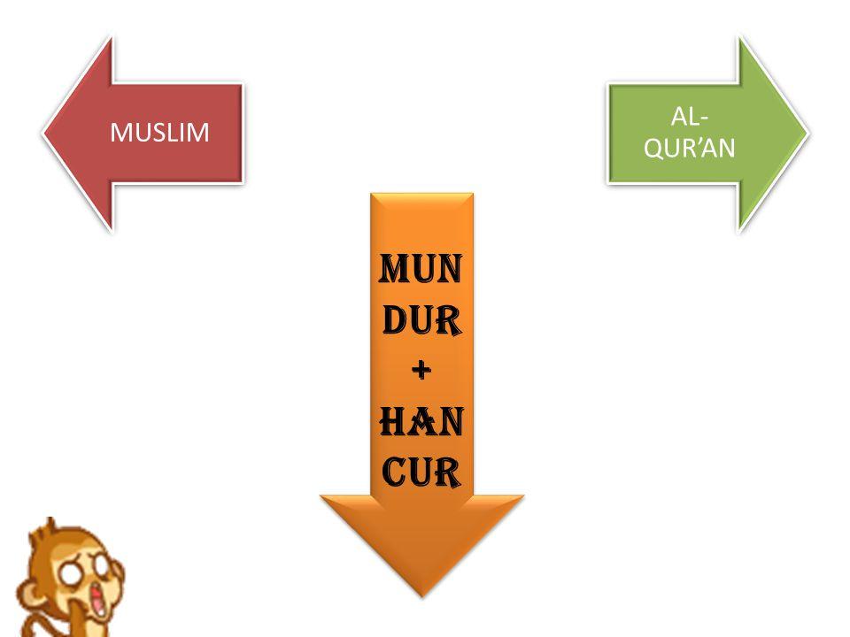 MUSLIM AL- QUR'AN MUN DUR + HAN CUR
