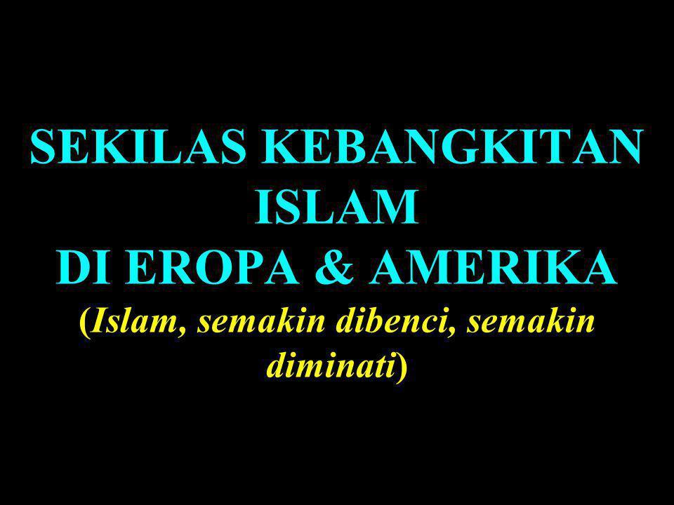SEKILAS KEBANGKITAN ISLAM DI EROPA & AMERIKA (Islam, semakin dibenci, semakin diminati)