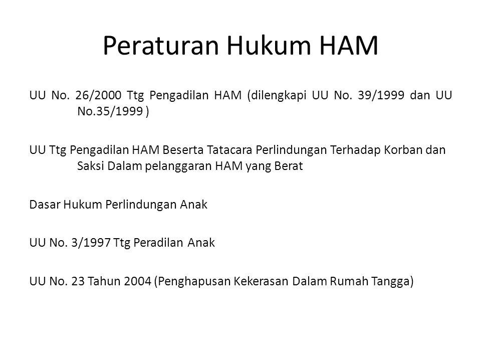 Peraturan Hukum HAM UU No.26/2000 Ttg Pengadilan HAM (dilengkapi UU No.