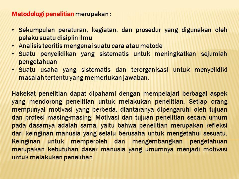 Prinsip Metodologi Beberapa prinsip metodologi oleh beberapa ahli, diantaranya: A.