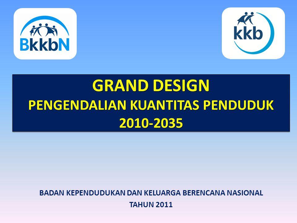 GRAND DESIGN PENGENDALIAN KUANTITAS PENDUDUK 2010-2035 GRAND DESIGN PENGENDALIAN KUANTITAS PENDUDUK 2010-2035 BADAN KEPENDUDUKAN DAN KELUARGA BERENCANA NASIONAL TAHUN 2011