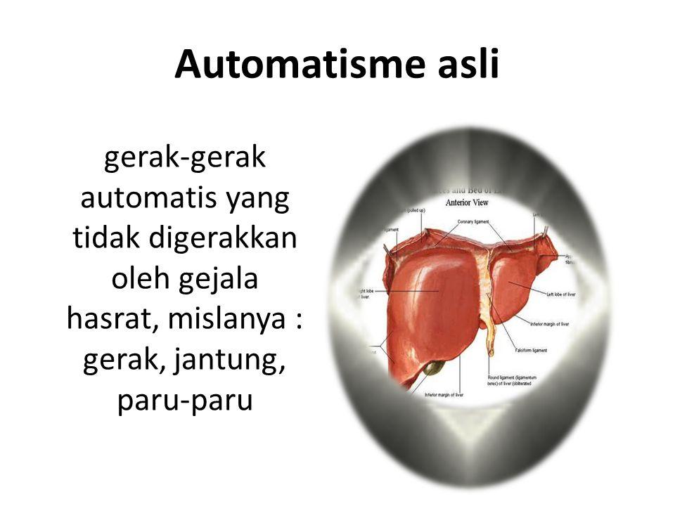 Automatisme Gejala-gejala yang menimbulkan gerak-gerak terselenggara dengan sendirinya