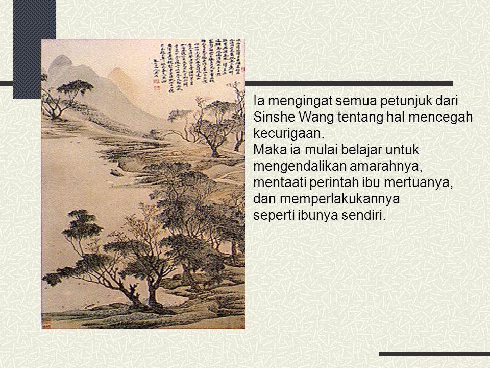 Ia mengingat semua petunjuk dari Sinshe Wang tentang hal mencegah kecurigaan. Maka ia mulai belajar untuk mengendalikan amarahnya, mentaati perintah i