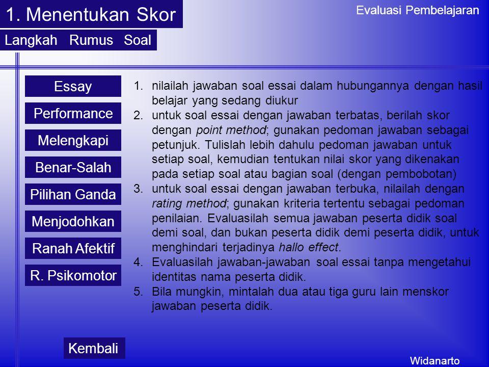 Widanarto Evaluasi Pembelajaran 1.