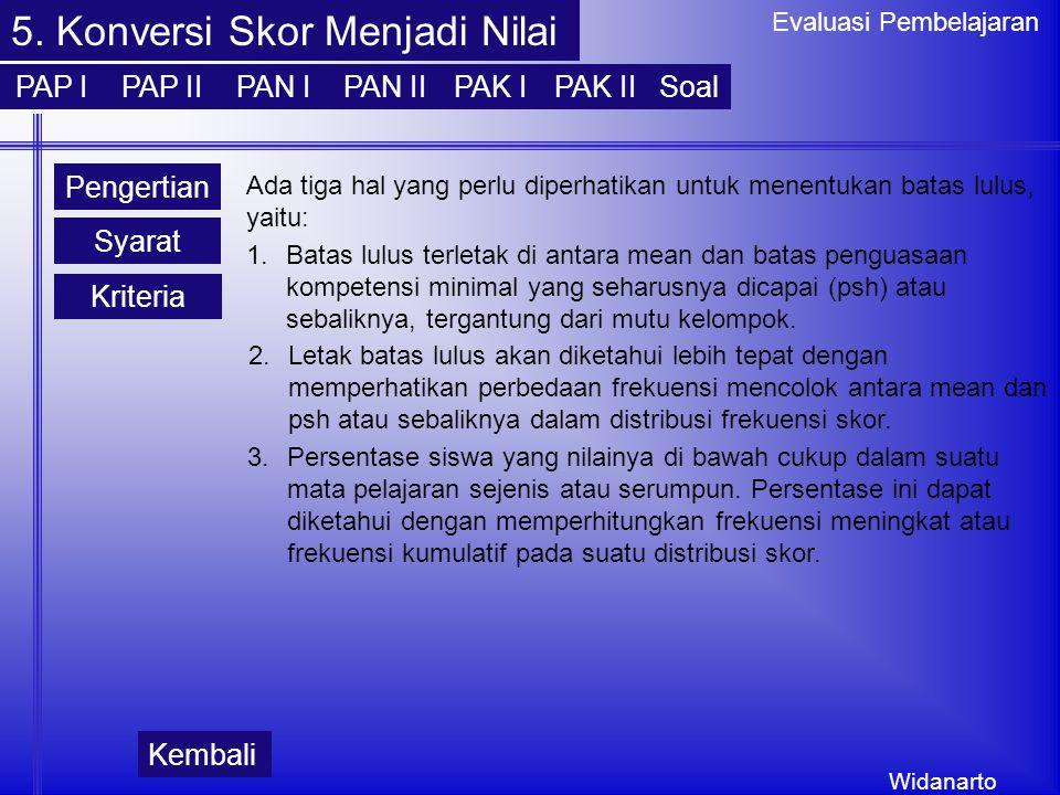 Widanarto Evaluasi Pembelajaran 5.