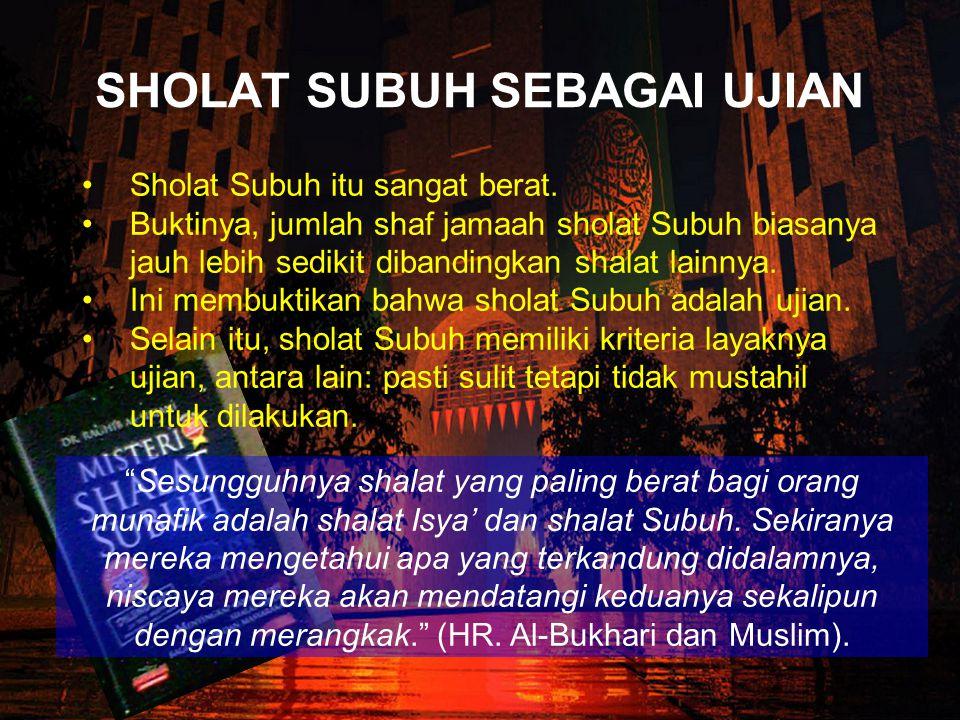 """""""Pernah, salah seorang penguasa Yahudi menyatakan bahwa mereka tidak takut dengan orang Islam kecuali pada satu hal. Ialah bila jumlah jamaah shalat s"""