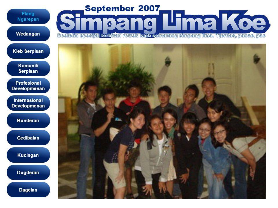 September 2007 Wedangan Assalamualaikum Wr Wb..