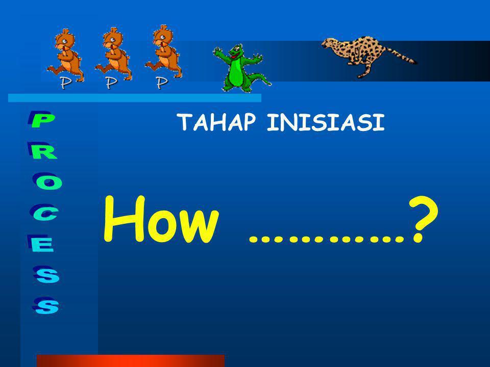 P P P P P P TAHAP INISIASI How …………?