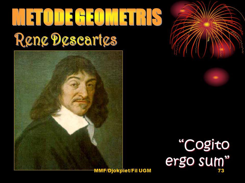 """Cogito ergo sum"" 73MMF/Djokpiet/Fil UGM"