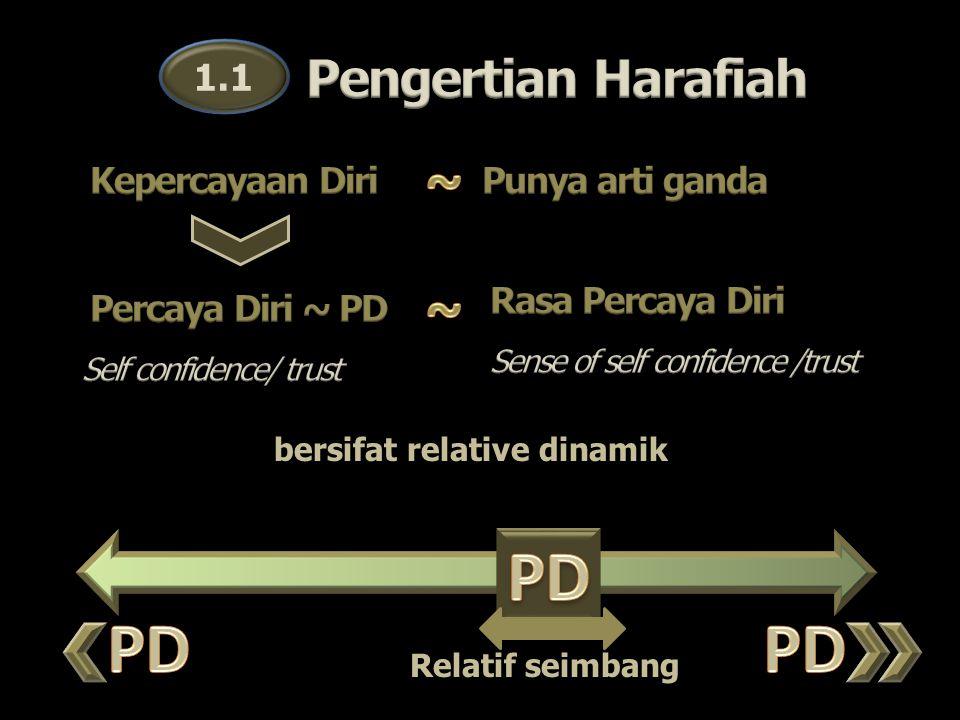 1.1 bersifat relative dinamik Relatif seimbang