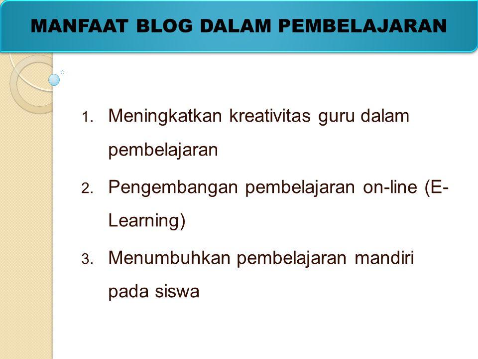 1. Meningkatkan kreativitas guru dalam pembelajaran 2. Pengembangan pembelajaran on-line (E- Learning) 3. Menumbuhkan pembelajaran mandiri pada siswa