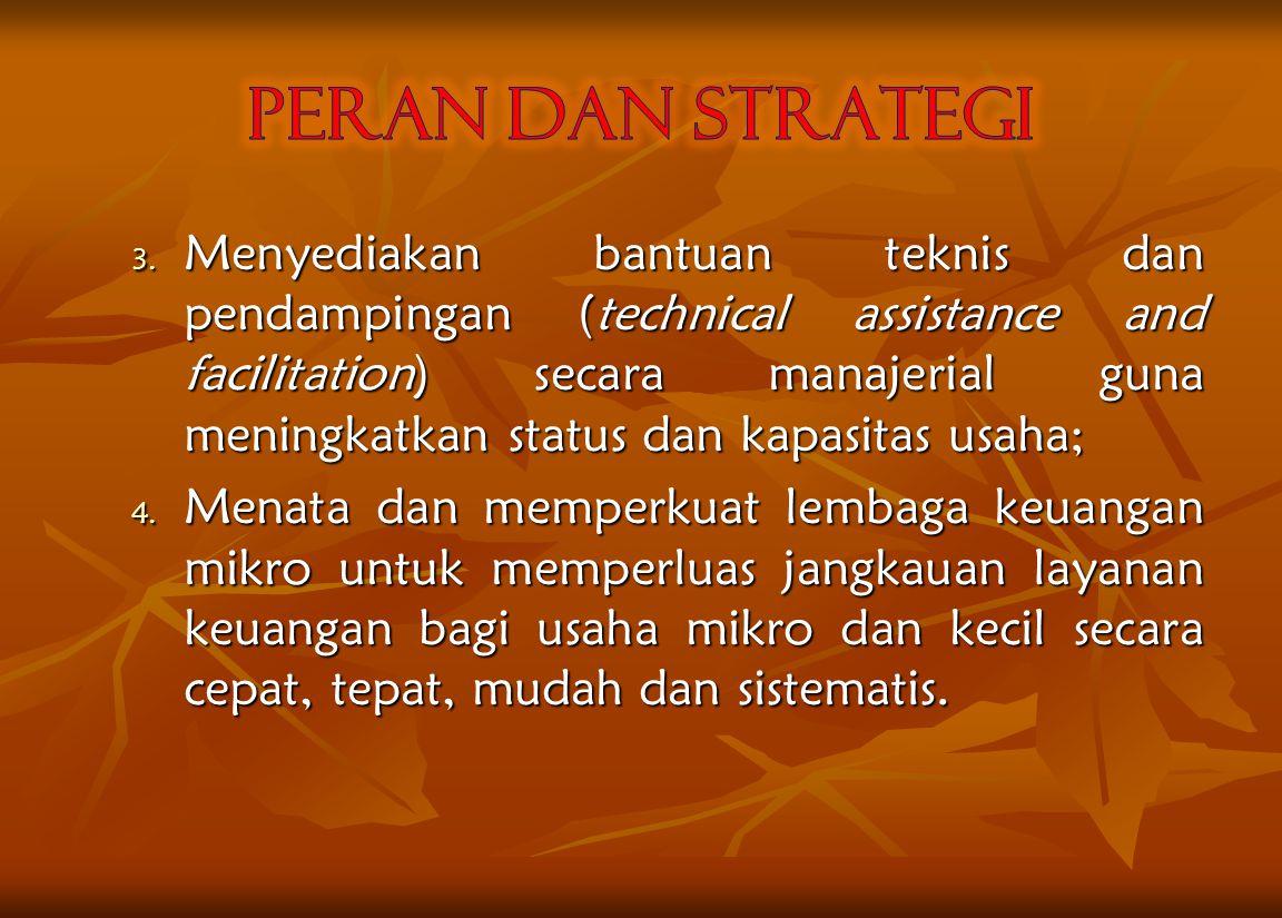 B. Strategi Strategi pemberdayaan usaha ekonomi masyarakat melalui BUMDes dilakukan dengan : 1. Menciptakan iklim usaha yankondisuif bagi pengembangan