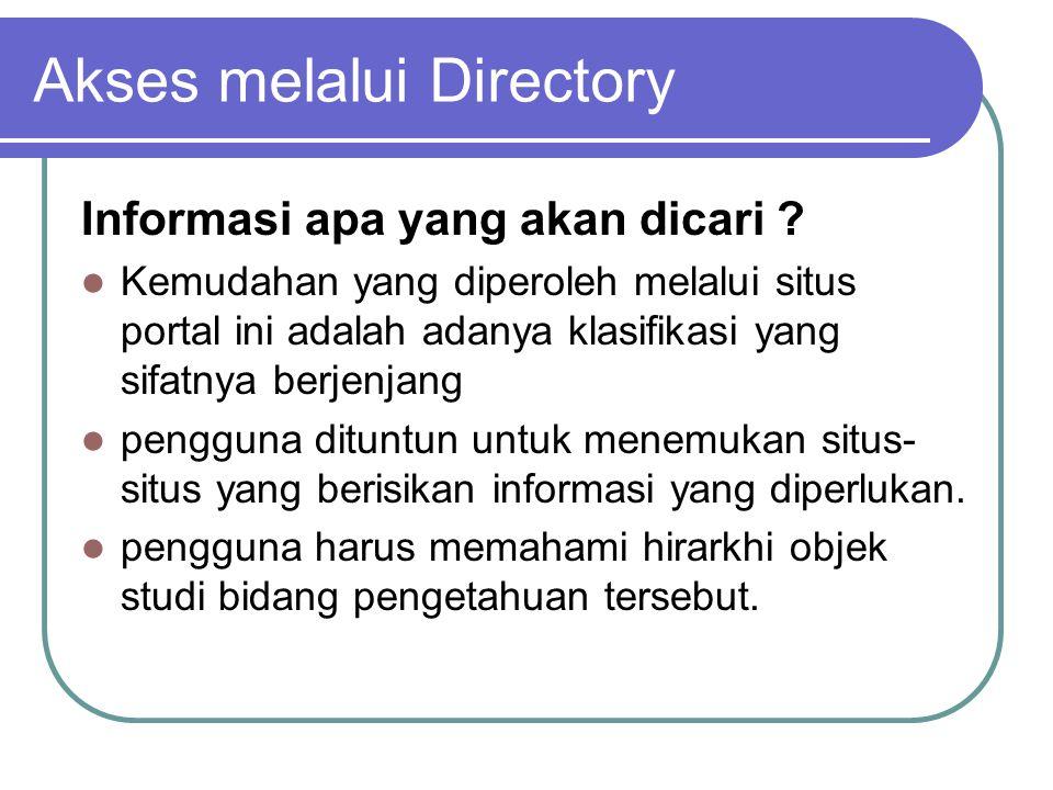 Informasi apa yang akan dicari .
