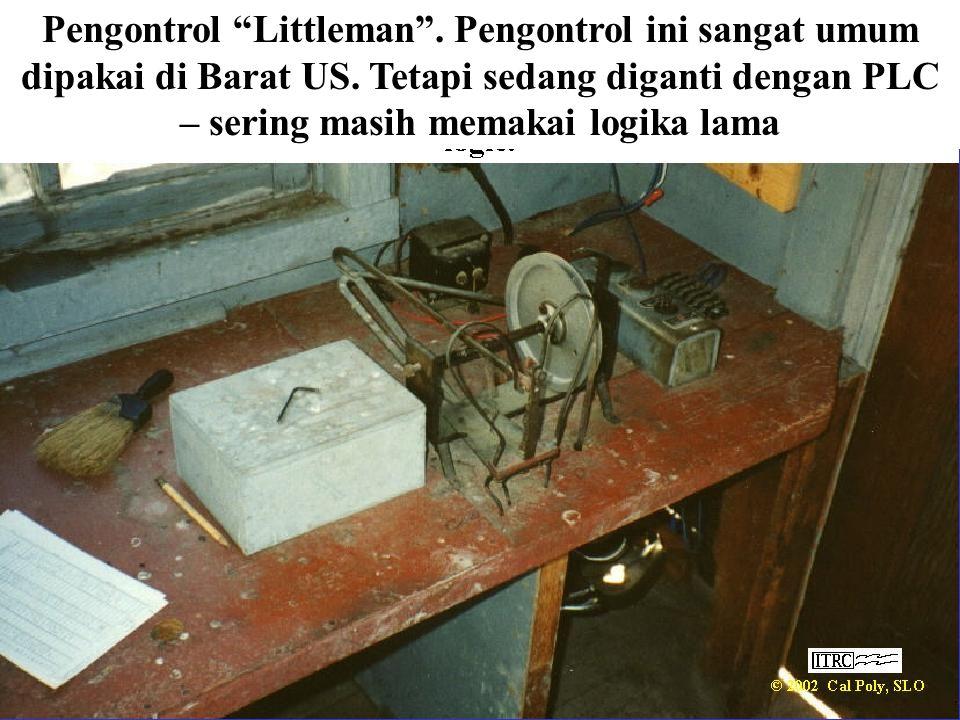 "Pengontrol ""Littleman"". Pengontrol ini sangat umum dipakai di Barat US. Tetapi sedang diganti dengan PLC – sering masih memakai logika lama"