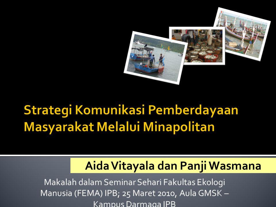 Aida Vitayala dan Panji Wasmana Makalah dalam Seminar Sehari Fakultas Ekologi Manusia (FEMA) IPB; 25 Maret 2010, Aula GMSK – Kampus Darmaga IPB