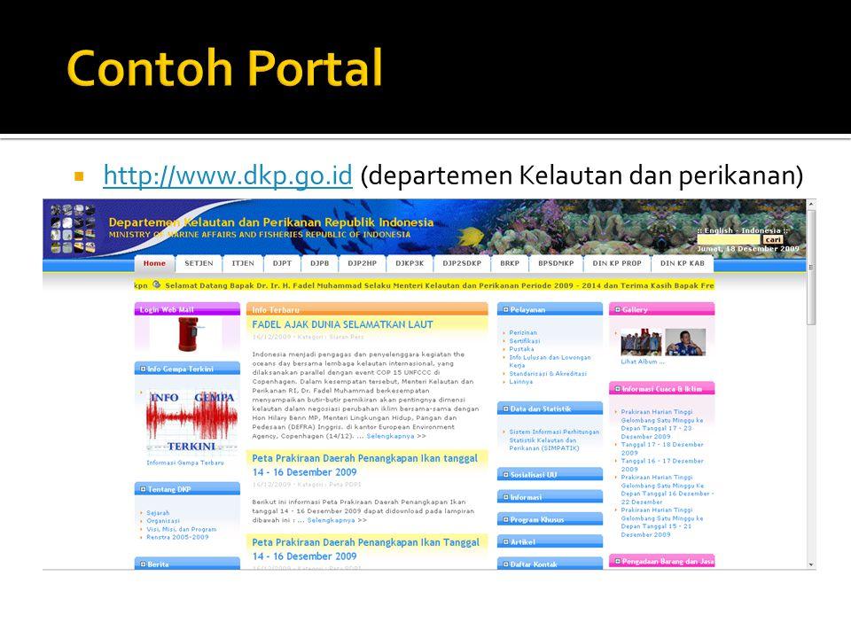  http://www.dkp.go.id (departemen Kelautan dan perikanan) http://www.dkp.go.id
