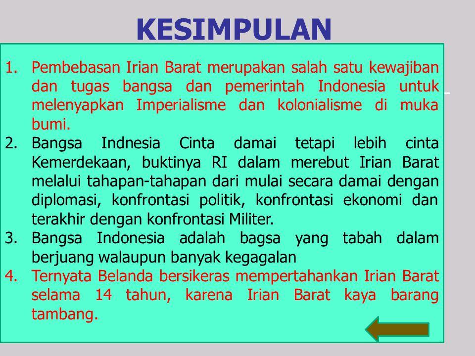 "Isi Tikora :  Gagalkan pembentukan ""Negara Boneka Papua"" buatan Kolonial Belanda.  Kibarkan Sang Merah Putih di Irian Barat Tanah Air Indonesia.  B"