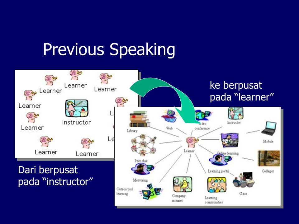 Previous Speaking Dari berpusat pada instructor ke berpusat pada learner