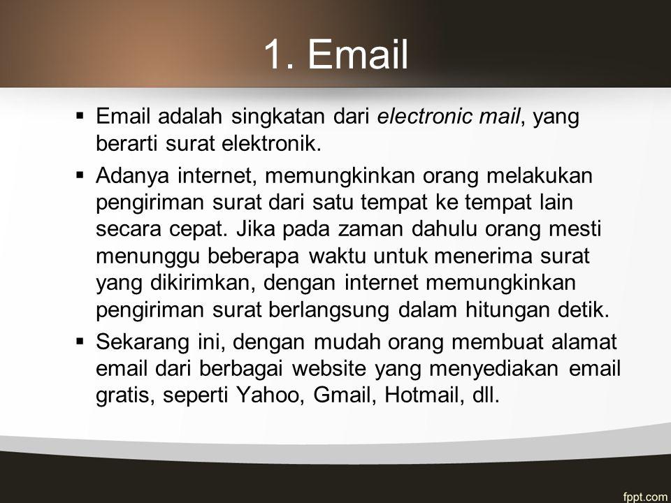 7.e-Commerce  E-Commerce adalah melakukan proses transaksi bisnis melalui internet.