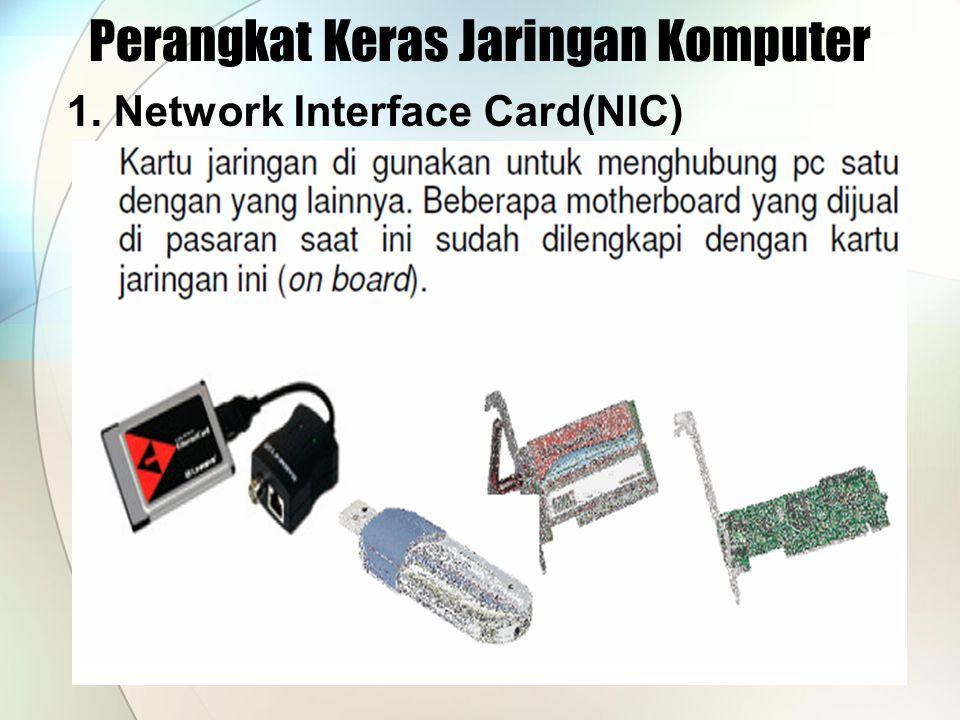 Perangkat Keras Jaringan Komputer 1. Network Interface Card(NIC)