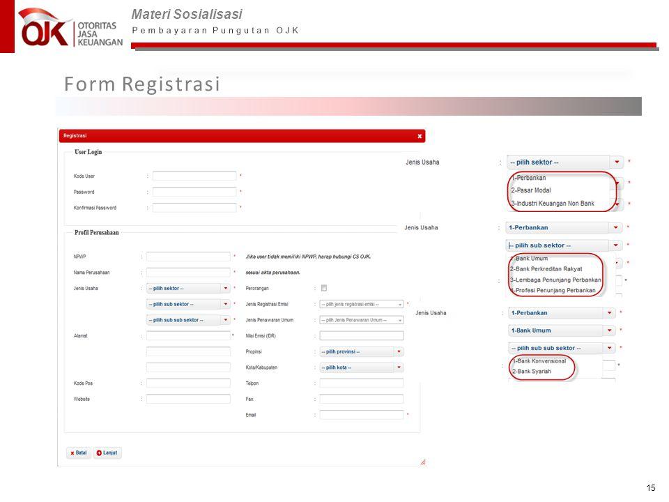 Materi Sosialisasi 15 Form Registrasi