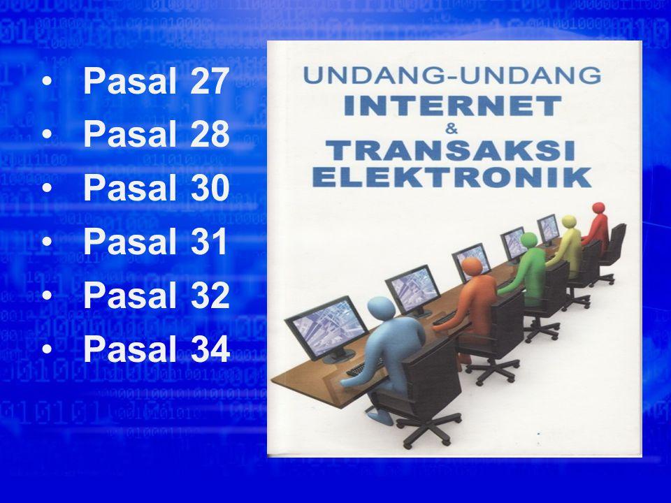 Sistem Perundangan Mengenai Cyber Crime Di negara kita terkenal dengan Undang-Undang yang berlaku untuk semua masyarakat Indonesia yang melakukan pela