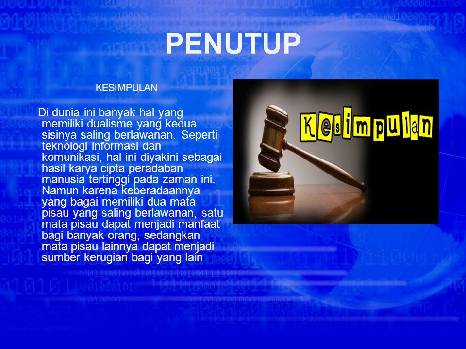 Contoh kasus di atas merupakan contoh kasus mengenai pelanggaran Undang-Undang Nomor 11 pasal 30 ayat 3 dan pasal 46 ayat 3 tahun 2008 tentang UU ITE.