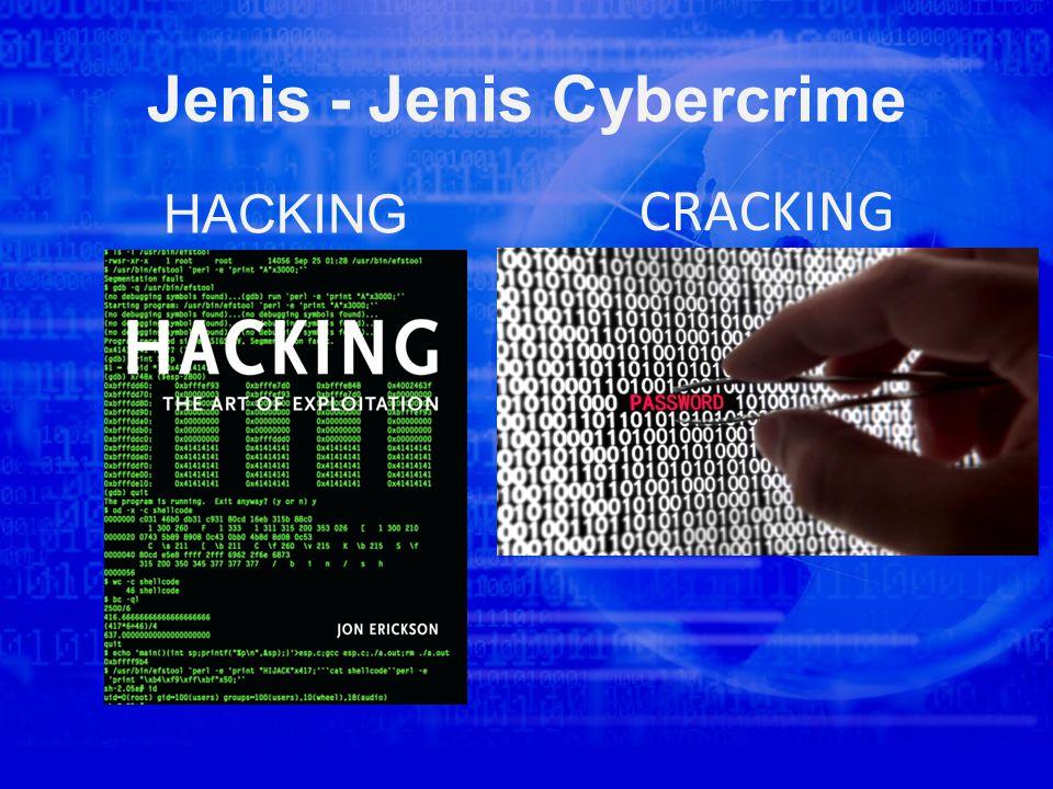 Jenis - Jenis Cybercrime HACKING CRACKING