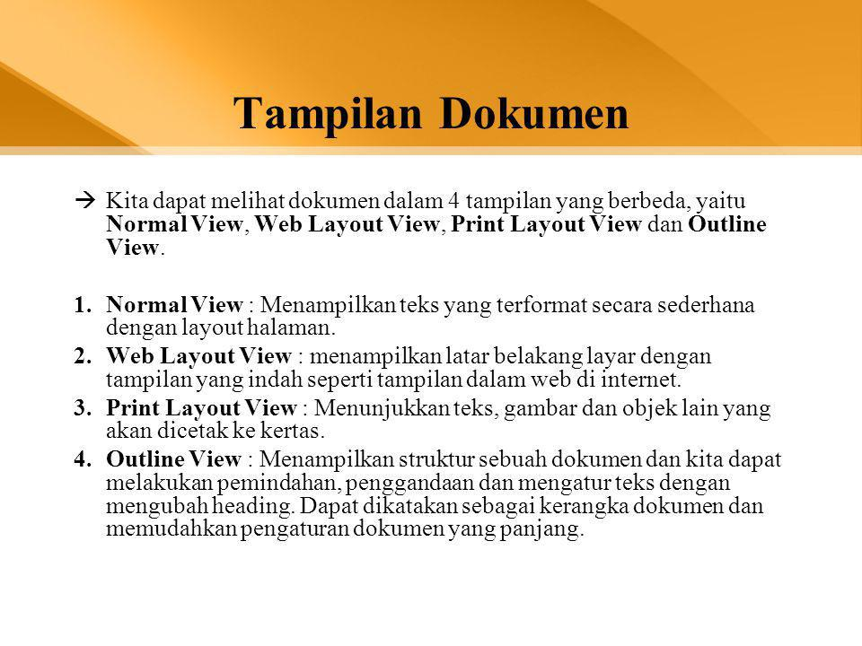 PARAGRAF •Memformat sebuah paragraf: –Menempatkan cursor diparagraf yang akan diformat, kemudian memilih menu di ribbon (grup Paragraph), atau melalui Dialog Launcer