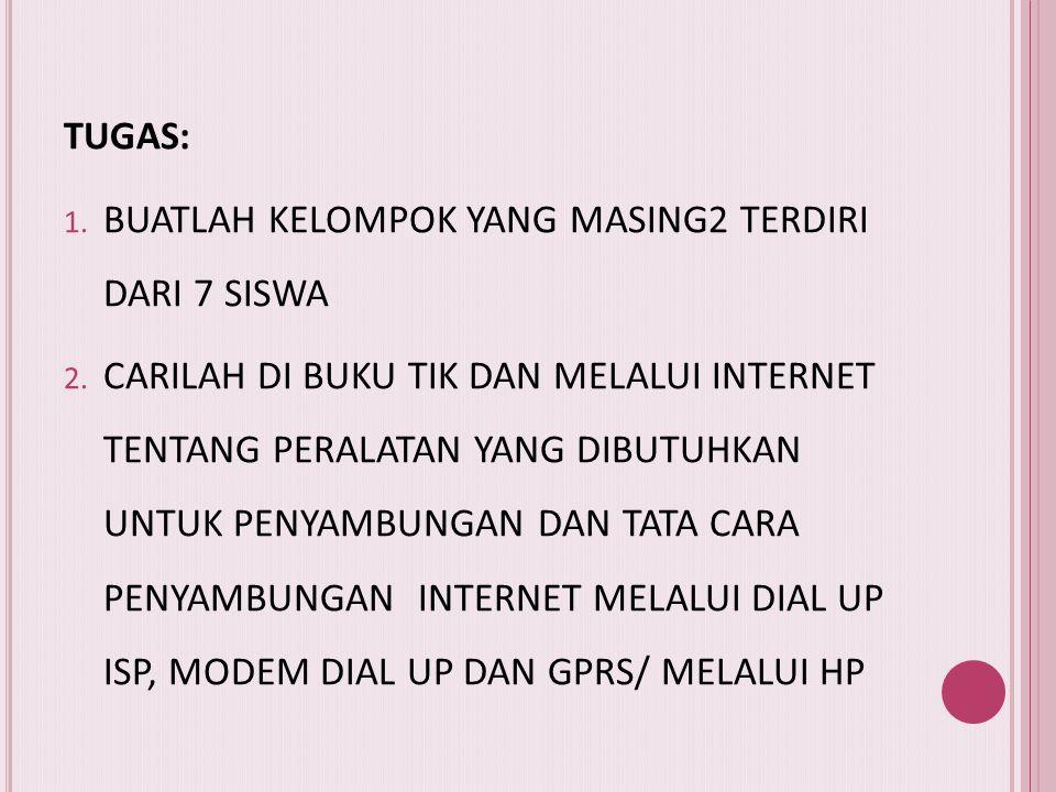 Kekurangan Akses Internet Menggunakan GPRS a. Adanya keterbatasan kemampuan dari gadget itu sendiri untuk jaringan GPRS b. Pada kenyataannya, ternyata