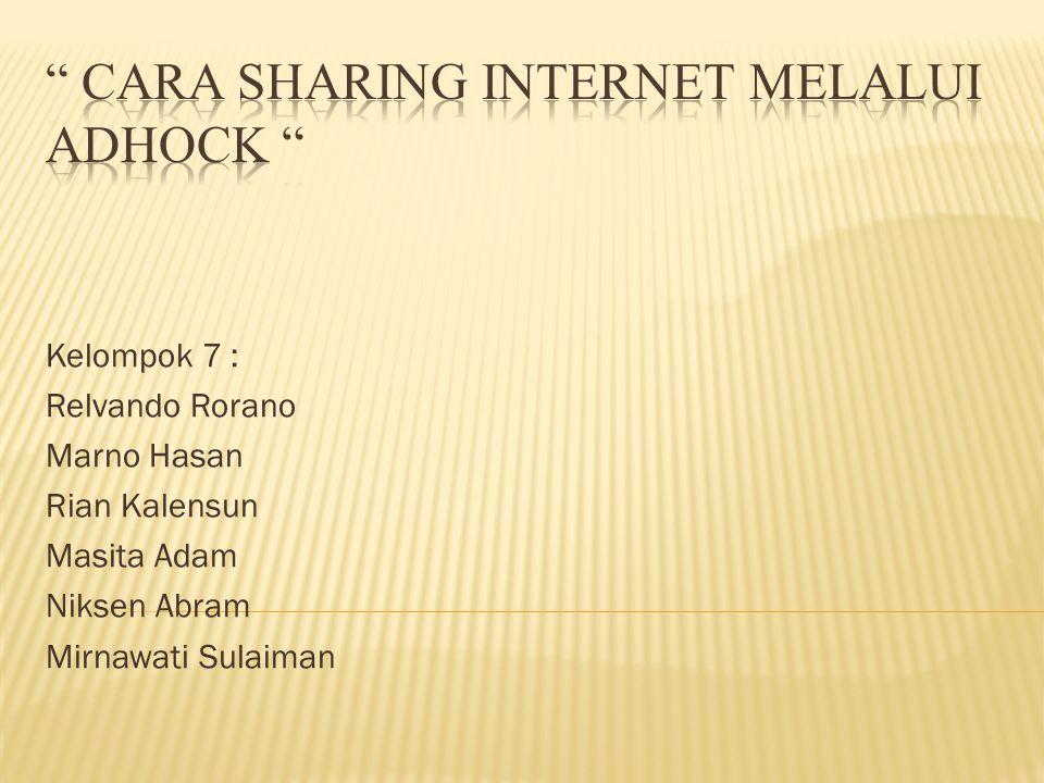 Kelompok 7 : Relvando Rorano Marno Hasan Rian Kalensun Masita Adam Niksen Abram Mirnawati Sulaiman