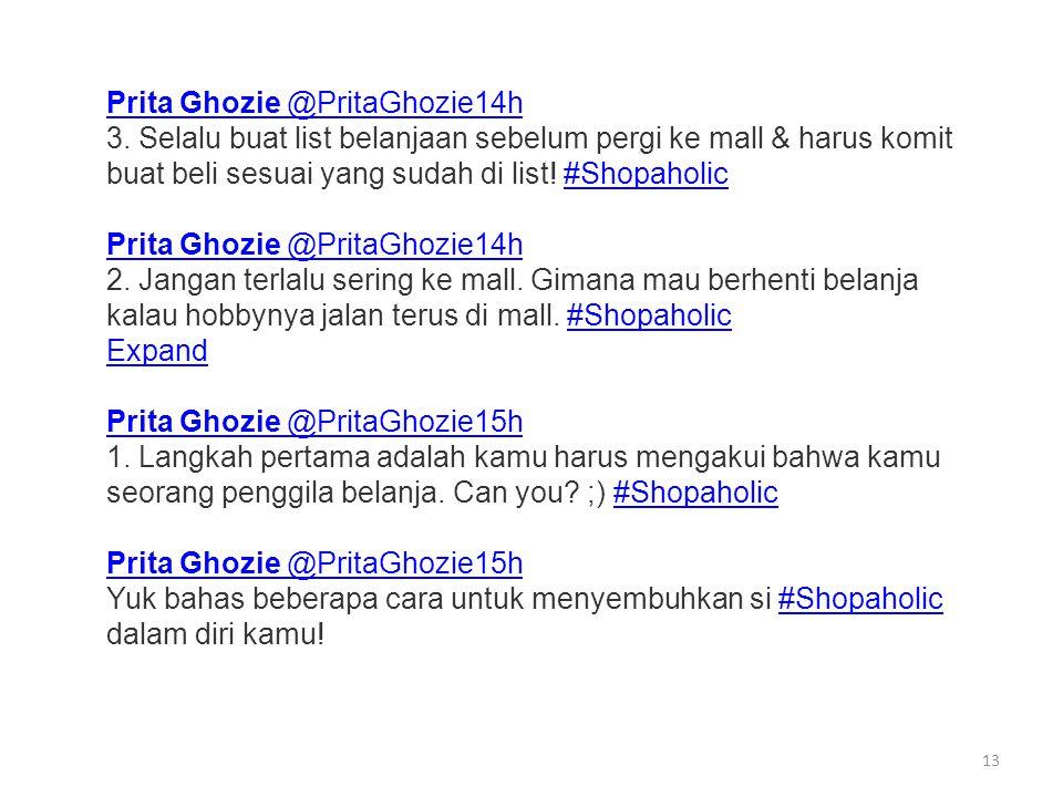 13 Prita Ghozie @PritaGhozie14h 3.