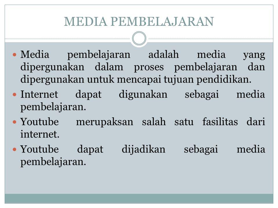 MEDIA PEMBELAJARAN  Media pembelajaran adalah media yang dipergunakan dalam proses pembelajaran dan dipergunakan untuk mencapai tujuan pendidikan. 