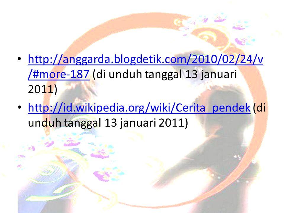Daftar Pustaka • http://anggarda.blogdetik.com/2010/02/24/v /#more-187 (di unduh tanggal 13 januari 2011) http://anggarda.blogdetik.com/2010/02/24/v /