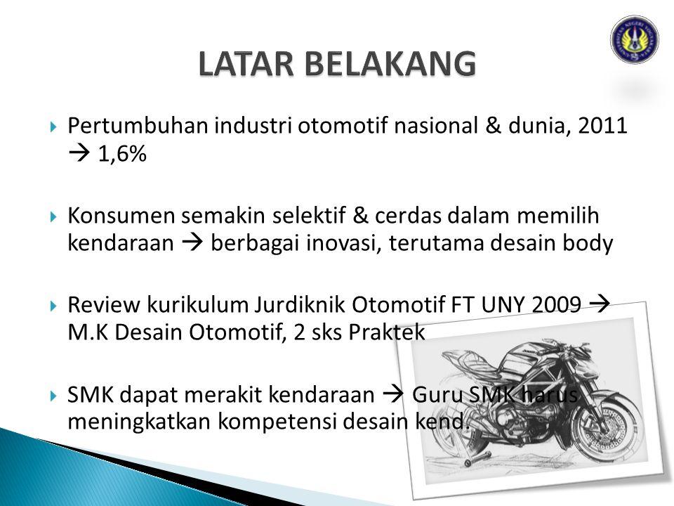  Pertumbuhan industri otomotif nasional & dunia, 2011  1,6%  Konsumen semakin selektif & cerdas dalam memilih kendaraan  berbagai inovasi, terutam