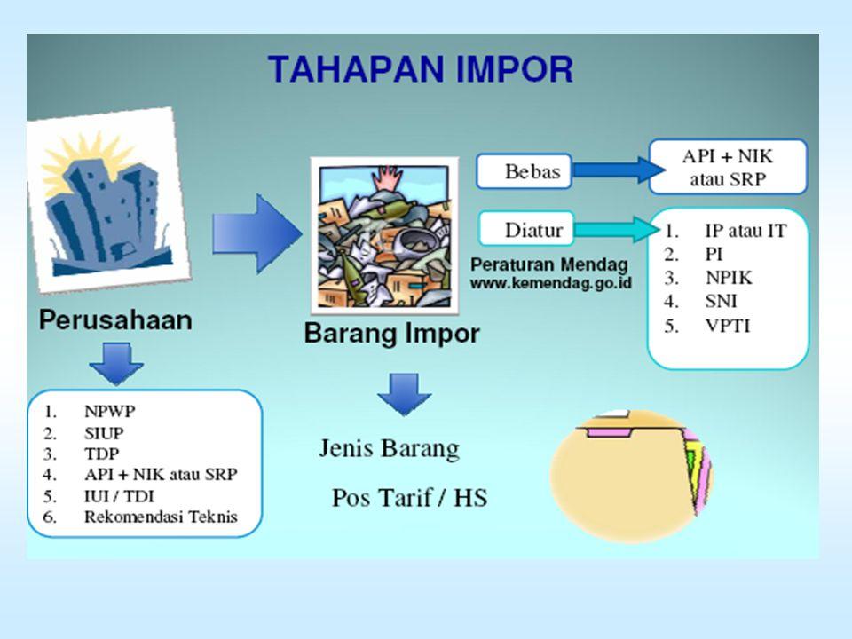 1.Tahapan impor 2.Bagan proses permohonan perizinan impor via on-line dan secara manual 3.Proses Importasi 4.Prosedur Impor
