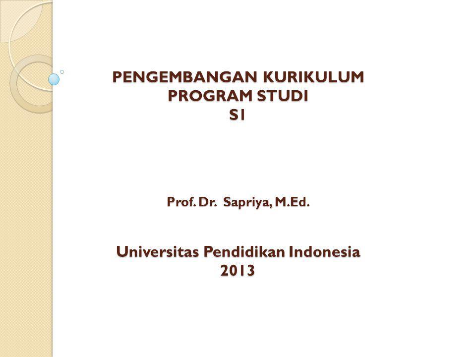 PENGEMBANGAN KURIKULUM PROGRAM STUDI S1 Prof.Dr. Sapriya, M.Ed.