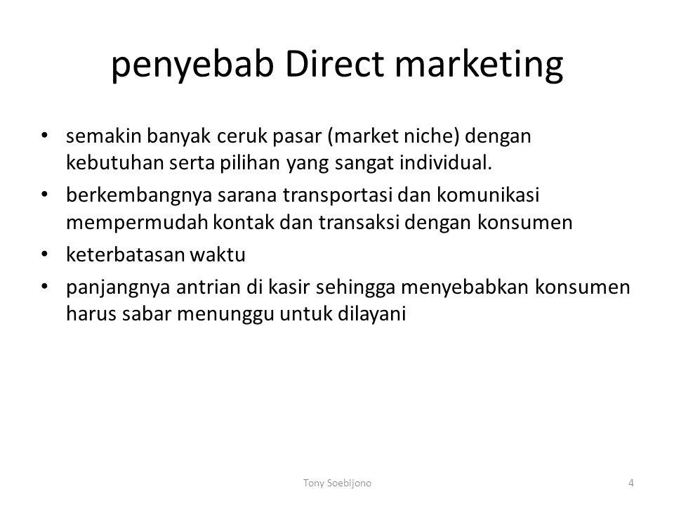Distribusi direct marketing banyak saluran untuk menjangkau calon pembeli dan pelanggan.