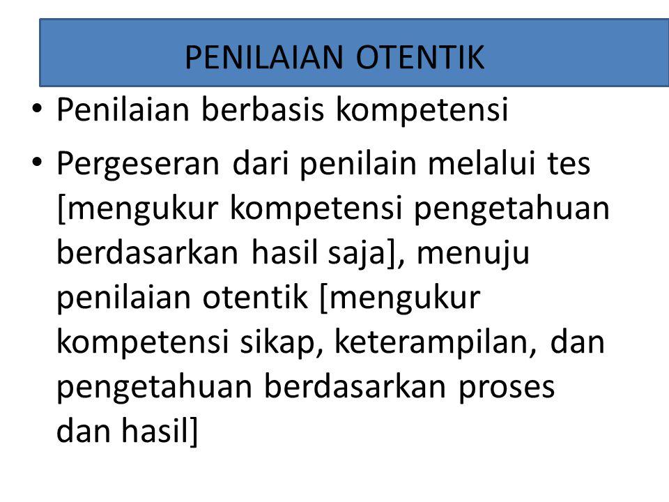 Hasil Kerja (Produk): Penilaian pada Hasil Akhir dan Proses hasil akhir.