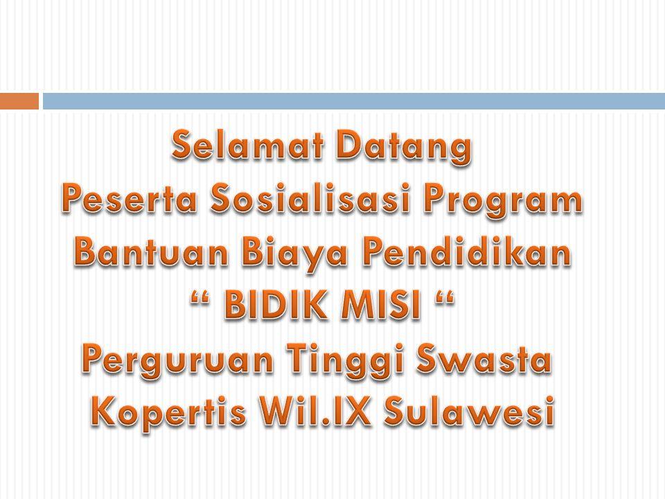 Sumber Dana  Diberikan oleh Kementerian Pendidikan dan Kebudayaan yg bersumber dari APBN dan APBN-P, dialokasikan melalui Satker Direktorat Pembelajaran dan Kemahasiswaan Ditjen Dikti.
