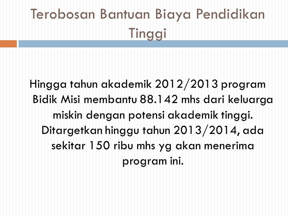 Latar Belakang  Dalam rangka penyiapan insan Indonesai cerdas dan kompetitif bagi mahasiswa yg tdk mampu secara ekonomi dan berpotensi ekonomi baik, perlu difasilitasi secara berkelanjutan melalui pemberian bantuan biaya pendidikan.