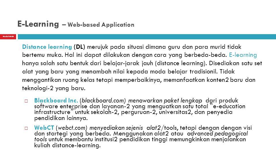 Modul-06-26 E-Learning – Web-based Application  Blackboard Inc.