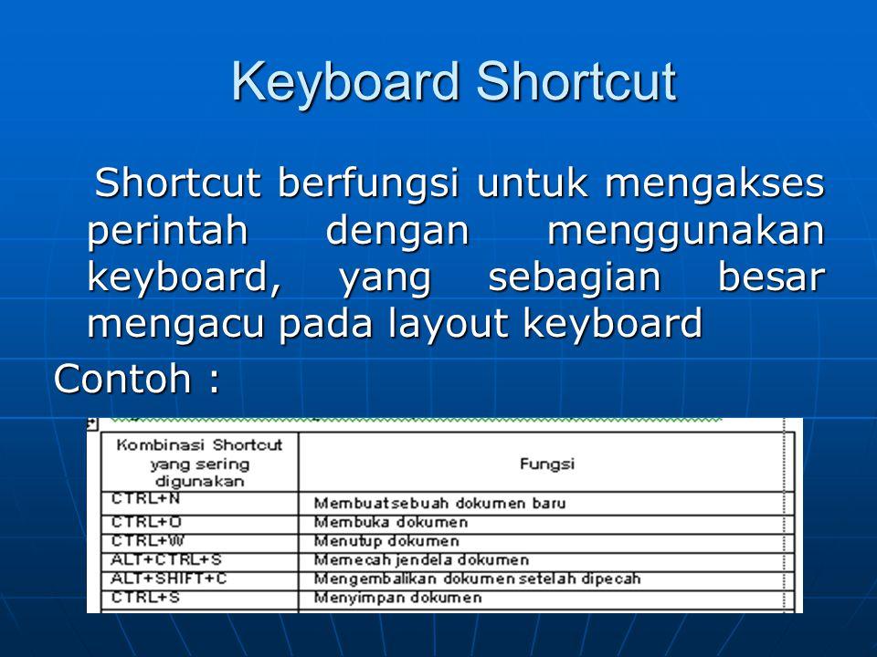 Menu dan Toolbar MMMMenu adalah bagian dari Microsoft Word yang digunakan untuk menampilkan perintah. Perintah yang ditampilkan bisa berupa teks a