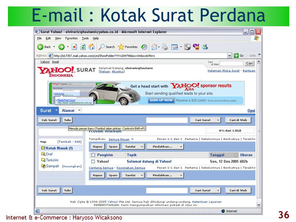 Internet & e-Commerce : Haryoso Wicaksono 36 E-mail : Kotak Surat Perdana