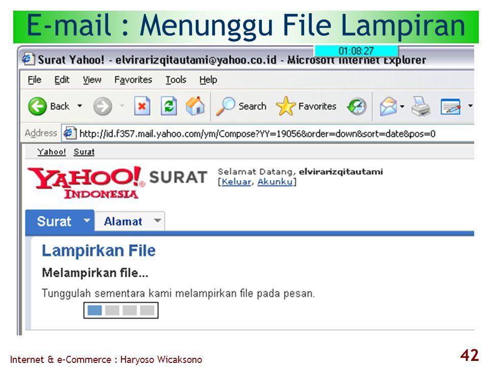 Internet & e-Commerce : Haryoso Wicaksono 42 E-mail : Menunggu File Lampiran