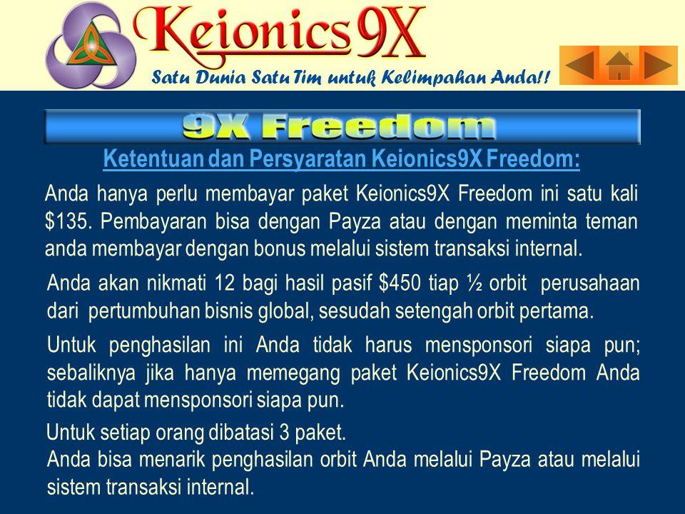 Ketentuan dan Persyaratan Keionics9X Freedom: Anda hanya perlu membayar paket Keionics9X Freedom ini satu kali $135.