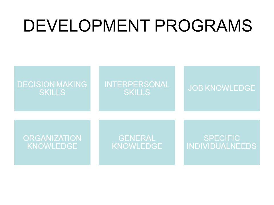 DEVELOPMENT PROGRAMS